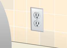 dust behind outlets